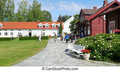 quot;hadeland central square, norwegian town viewquot; -...