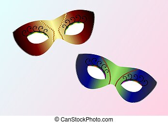 realistic carnaval masks - Vector realistic carnaval masks