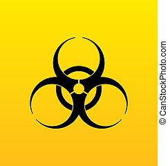 Bio hazard sign, danger symbol warning - Illustration bio...