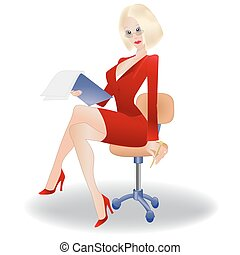 Secretary, businesswoman