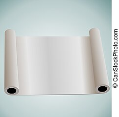 Illustration of blank paper roll for design - vector