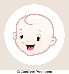 Cartoon Baby Face - Cartoon vector baby face for design...