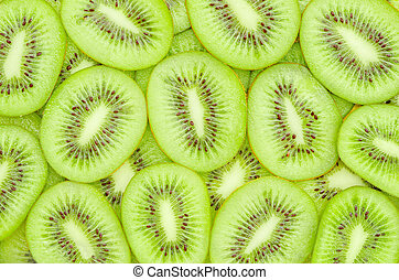 Kiwi fruit slices - Fresh Kiwi fruit slices.