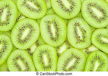 Kiwi fruit slices - Fresh Kiwi fruit slices.