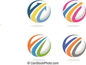 Arrow and finance marketing logo co - Elegant logo concept...