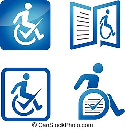 Disabled assisted logo - modern concept of Disable care...