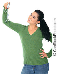 Narcissistic Woman - pretty woman taking picture of herself...