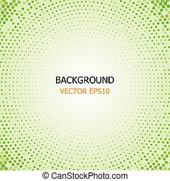 circle dotted, green background vector