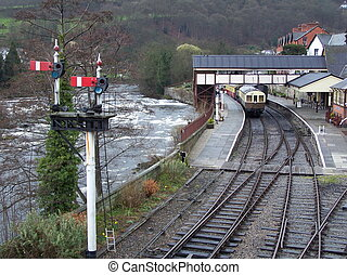 Llangollen station. - Llangollen railway station. Next to...