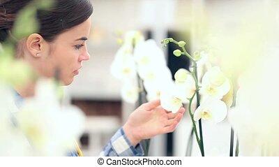 woman in garden of flowers