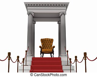 armchair - the boss armchair in the red carpet end (3D...