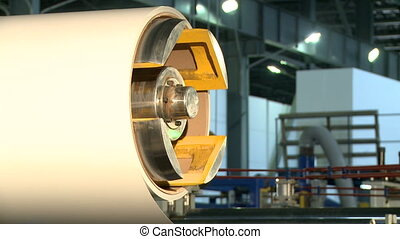 View on roll of material to cover structural panel - View on...