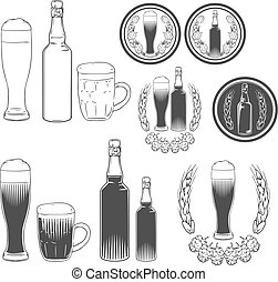 beer - craft beer brewery emblems, design elements for logo...