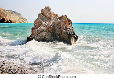 Aphrodite\'s legendary birthplace in Paphos,Cyprus.