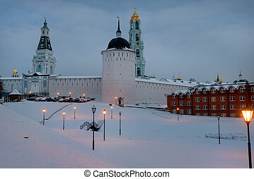 Sergiev Posad, the views of the Holy Trinity St Sergius...
