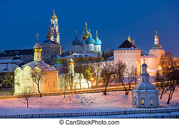 Sergiev Posad, the views of the Holy Trinity St. Sergius...