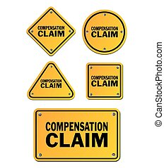 compensation claim signs - suitable for signs
