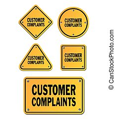 customer complaints yellow signs - suitable for signs