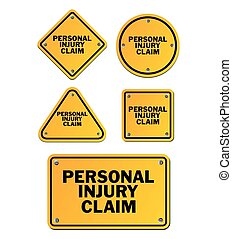 personal injury claim signs - suitable for signs