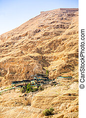 Mount of Temptation next to Jericho - place where Jesus was...