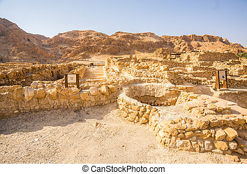 Qumran, where the dead sea scrolls were found, Israel