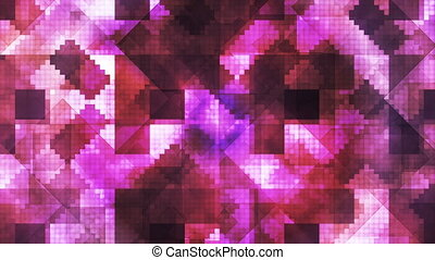 Broadcast Hi-Tech Diamond Shifting Patterns, Pink, Abstract, Loopable, HD