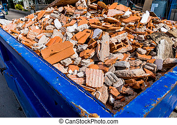 rubble at construction site - rubble at a construction site...