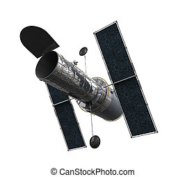 Space Telescope Isolated - Space Telescope isolated on white...