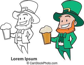 gnome leprechaun beer