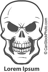 skull logo vector - skull logo design template, simple...