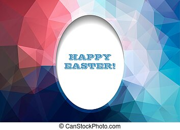 Easter abstract egg polygonal background