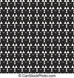 Geometric monochrome abstract hipster seamless pattern with...