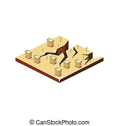 Earthquake. Natural Disaster Icon. Vector Illustration -...