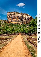 Sigiriya rock, Sri Lanka - Famous tourist landmark - ancient...