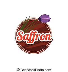 Saffron Spice. Vector Illustration. - Saffron Spice....