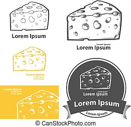 cheese food elements - cheese simple illustration, for...