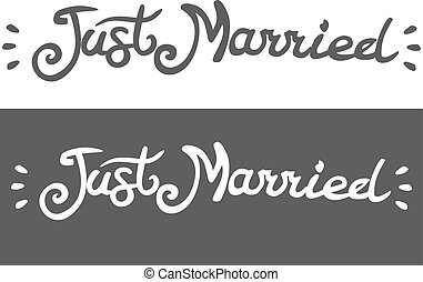 just married lettering - just married, lettering, for...