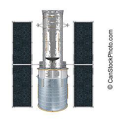 Space Telescope Isolated - Space Telescope isolated on white...