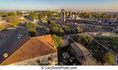 Aerial view of the Apollo Temple, Didim, Turkey, 4k - Aerial...