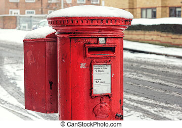 Post Box Snow. Royal Mail Winter - Royal Mail Postbox In The...