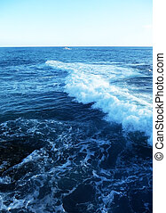 Sea Waves - View of the waves by the Gran Canaria coast.