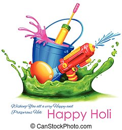 Splashy Holi Background - illustration of spalsh with color...