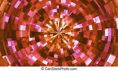 Twinkling Hi-Tech Grunge Flame Tunnel, Orange, Abstract,...