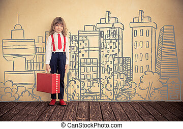 Business trip concept - Portrait of young businessman in...