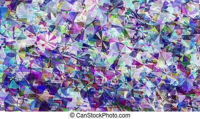 Animated violet glitch background - Violet and blue abstract...