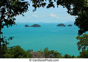 Koh Samui Island View - A view from the south west coast of...