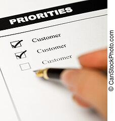 事務, 價值, -, 顧客, oriented, 事務