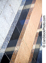abstract reflex pavement cross stone step - in asia bangkok...