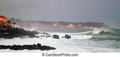 Ocean Storm - This is a photo of storm in ocean