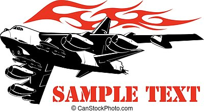 Cartoon Military Airplane - Vector Cartoon Bomber. Available...
